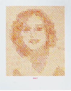 Stitched portrait - Evelin Kasikov