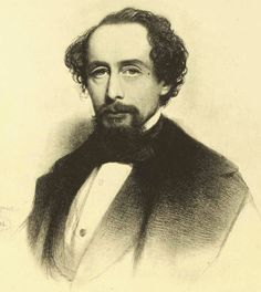 This period charcoal portrait of Charles Dickens, the author of  A Christmas Carol dates from about 1857.