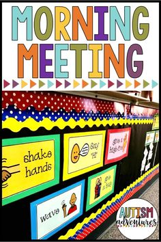 Morning meeting routine in a special education classroom or autism program