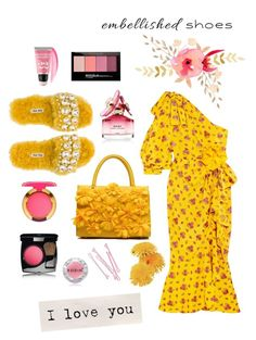"""""""Embellished"""" by hellodollface ❤ liked on Polyvore featuring Miu Miu, Gucci, MAC Cosmetics, Chanel, Marc Jacobs, Maybelline, Rodin, BOBBY and embellishedshoes"""