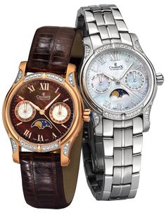The GRANADA by Charmex of Switzerland™; luxury Swiss Made wrist watches on the official Charmex of Switzerland™ website Granada, Casio Watch, Stainless Steel Case, White Leather, Switzerland, Quartz, Rose Gold, Jewels, Watches