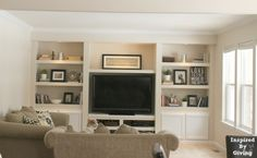 Built-Ins for the basement entertainment center... See no wires :)