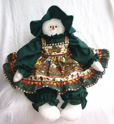 Lovely Snow Lady for the Holidays Wearing by MyDaughtersCottage on Etsy