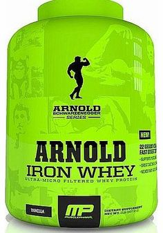 MusclePharm Iron Whey Vanilla 2270g Arnold Schwarzenegger Series MusclePharm, Supports Muscle Recovery