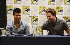 Taylor Lautner and Robert Pattinson at Comic Con