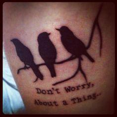 inspiring and cute idea.. three little birds | Tumblr  | Bob Marley