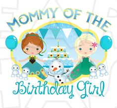 Mommy of the birthday girl Frozen Fever INSTANT DOWNLOAD digital clip art DIY for shirt :: My Heart Has Ears
