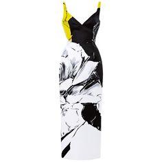 Prabal Gurung Rose Print Satin Pencil Dress (5,385 CNY) ❤ liked on Polyvore featuring dresses, prabal gurung, floral dresses, holiday dresses, evening cocktail dresses, special occasion dresses and floral print dress