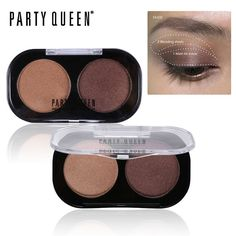 Party Queen Nude Matte Makeup Pigment 2 Color Eyeshadow Kit Contour Glitter Shimmer Sexy Eye Shadow Naked Duos Eyeshadow Palette