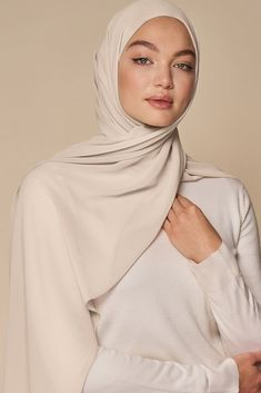 Our signature chiffon is light, crisp and easy to care for, giving you a sleek, polished look every time. Muslim Wedding Dresses, Muslim Brides, Wedding Hijab, Hijab Bride, Muslim Couples, Dress Wedding, Wedding Bride, Street Hijab Fashion, Muslim Fashion