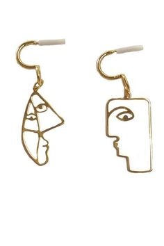 Picasso faces earrings – Sofi Moukidou Face Earrings, Earring Trends, Geometric Jewelry, Picasso, Love Art, Amazing Art, Handmade Jewelry, Jewelry Making, Faces