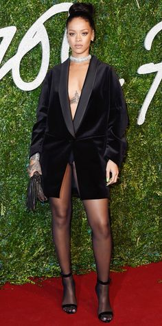 Chic Celebrity Looks That Have Us Saying YES to Tights - Rihanna #InStyle