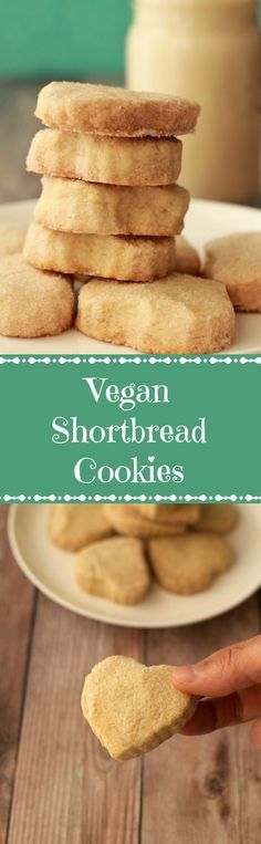 Perfectly crunchy vegan shortbread cookies. This small batch recipe contains just 4-ingredients and makes 8-9 shortbread cookies. Easy and insanely good!