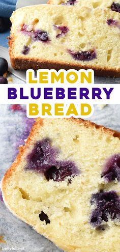 This Blueberry Lemon Bread is a buttery and moist quick bread dessert or snack cake, with lemon curd and fresh blueberries swirled throughout, then topped with a silky sweet glaze. Such an easy recipe for breakfast or brunch, with fresh fruit for summer or frozen fruit throughout the year! Fruit Recipes, Cake Recipes, Dessert Recipes, Healthy Desserts, Brunch Recipes, Fish Recipes, Summer Recipes, Breakfast Recipes, Blueberry Quick Bread