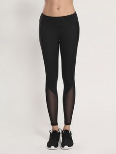 Leggings Yoga Ajustado Voile - Negro Xl
