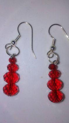 Devoted Love crystal drop earrings by EisbrenacDesigns on Etsy