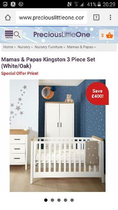 Mamas And Papas, White Oak, Kingston, Cribs, Nursery, Bed, Furniture, Home Decor, Cots