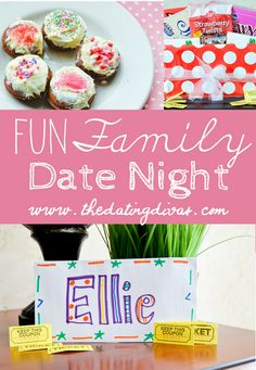 Enjoy a date at home with the family!  Make your own pizzas and donuts while using chore tickets to buy treats and popcorn!