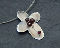 Handcrafted Jewellery by NtepiJewellery on Etsy Garnet Jewelry, Garnet Gemstone, Silver Jewelry, Roman Jewelry, Mothers Day Gifts From Daughter, Cultured Pearl Necklace, Birthday Gifts For Women, Oxidized Sterling Silver, Cross Pendant