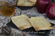 Sfogliatine crema e mele, dolcetti facili e veloci per il tè, la colazione e la merenda. Ricetta sfogliatine golose con mele.
