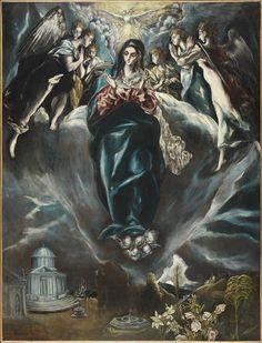 Anunciacion 1600 El Greco. Spotted at Thyssen Museum