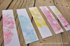 Watercolor Bookmarks & Book Reviews - Designs By Miss Mandee. Love the subtle flower design! Plus, some great book reviews.