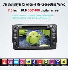 2 Din Android Autoradio Upgrade Sat-Nav system für Mercedes-Benz Vaneo mit DVD GPS Bluetooth Auto A/V