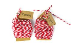Red bakers twine  cotton thread  wrapping cord   by TodoPapel, $3.60