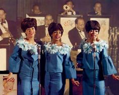 Florence  Ballard, mary wells and   diana Ross preforming at the copacabana  new York city 1965