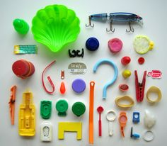 beach trash by herzensart, via Flickr