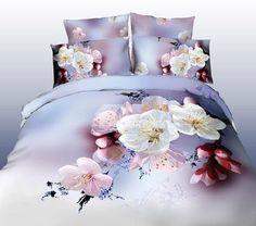 3D 100% Cotton Romantic Sober 4 Piece Bedding Sets/Duvet Cover Sets