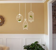 Birdcages with Birds Wall Decal - Birdcage wall decal - Birdcage Decal - Vinyl Wall Decal by homesweetwalls on Etsy https://www.etsy.com/listing/70715915/birdcages-with-birds-wall-decal-birdcage