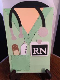 """Scrubs RN Graduation"" Nurse Greeting Card Handmade #Handmade #Graduation"
