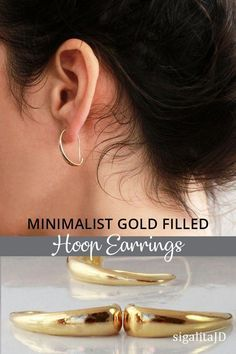 a8ee6b8ae Gold or silver minimalist hoop earrings - great for a casual everyday wear  boho-chic