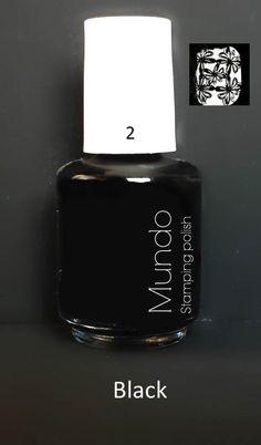 Mundo de Uñas Stamping Polish  Black (mini)