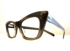 Alchemy, Liquid Silver - Black Horn Rimmed Cat Eye Eyeglasses