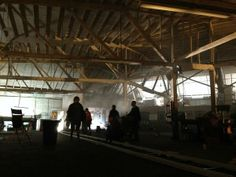 AndrewBikichky: Setting up the tracking shot to bring Beckett into truck repair garage set E622 #Castle