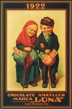 Vintage Ads Food, Vintage Ephemera, Vintage Images, Retro Vintage, Vintage Advertising Posters, Vintage Advertisements, Vintage Posters, Chocolate Card, T Tv