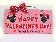 Mickey & Minnie Valentine's Day Sign