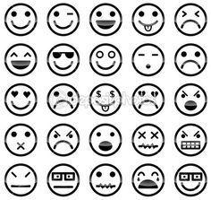 icônes Smiley — Illustration #23210054