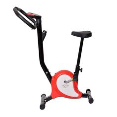 Tenive Pro Upright Belt Bicycle Cadio Spinning Bike Machine Indoor Upright Stationary Bicycle Fitness Gym Training Bike W/ LCD Monitor ,Adjustable Resistance -Red and Black >>> Discover this special product, click the image : Weightloss Cardio