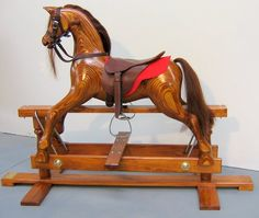 Rocking Horses for children and as heirlooms by Classic Kiwi Products Antique Rocking Horse, Rocking Horses, Oak Color, Table Lamp, Antiques, Kiwi, Gallery, My Style, Classic