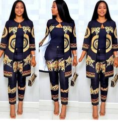 Load image into Gallery viewer, Two Piece African Women& Suit - kats African Fashion Ankara, Latest African Fashion Dresses, African Print Dresses, African Dresses For Women, African Print Fashion, African Attire, African Wear, African Print Pants, African Women Fashion