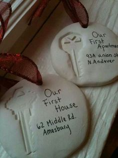 Just moved in? This is the perfect bauble for your first tree in a new home. This also works great as a Christmas gift!