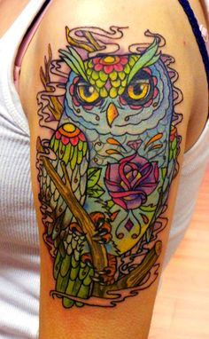 owl tattoo sam phillips   sam phillips owl by KrisFordArt: well yea...this is what I want exactly!