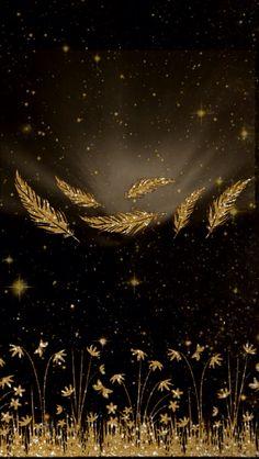 Black gold leaves iphone wallpaper background phone lock screen
