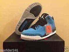 new styles 76f64 9086c 2014 Air Jordan 3 Powder Blue Wolf Grey 136064406 Size 9 SH I9 for sale  online   eBay