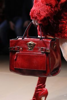 Versace Autumn/Winter 2014 Ready-To-Wear The wardrobes of designerhandbags… famous stars and wealthy women are full of different styles of Louis Vuitton bags. Fall Handbags, Purses And Handbags, Handbags Online, Beautiful Handbags, Beautiful Bags, Louis Vuitton Taschen, Dior, Sacs Design, Mode Outfits