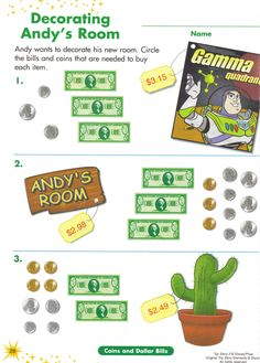 Disney Money Learning Pages Disney Activities, Math Activities, Disney Games, Disney Theme, Math Resources, Classroom Crafts, Math Classroom, Future Classroom, Classroom Ideas