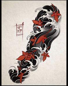 Japanese Forearm Tattoo, Japanese Wave Tattoos, Japanese Flower Tattoo, Japanese Tattoo Designs, Japanese Sleeve Tattoos, Japanese Cloud Tattoo, Japanese Tattoo Women, Japan Tattoo Design, Sketch Tattoo Design
